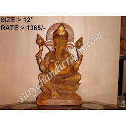 Wooden Carving Ganesh Statues