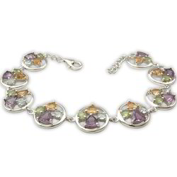 Multicolored Flower Bracelet
