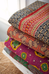 Indian Handmade Kantha Quilts