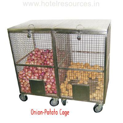 Onion / Potato Cage  sc 1 st  IndiaMART & Onion / Potato Cage Kitchen Shelf Organizer Kitchen Storage ...