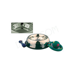 Anti Skid Square Design Belly Shape Dog Bowl
