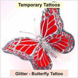 Glitter Butterfly Tattoo