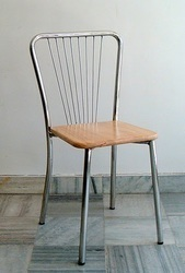 Genial Dining Stainless Steel Wooden Chairs