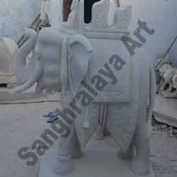 Elephant with Chariot Statue
