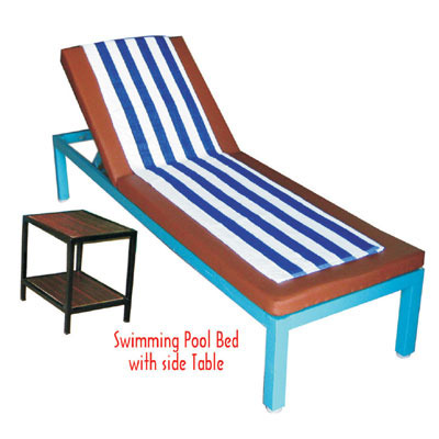 Swimming Pool Bed With Foam Mattress