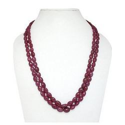 Dyed Ruby Smooth Beads