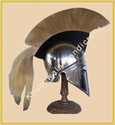 Corinthian Helmet In Steel With Crest