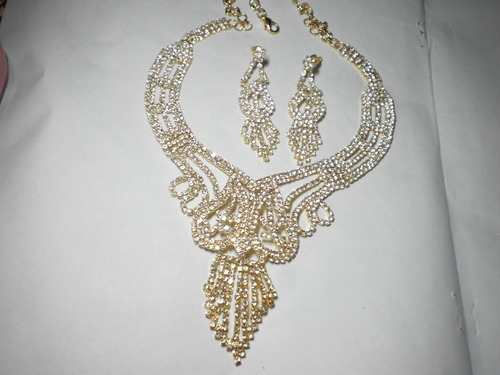 Ad stone jewellery costume jewellery american diamond studded ad stone jewellery costume jewellery american diamond studded neckless set exporter from kolkata mozeypictures Choice Image