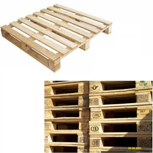 Square Brown Wooden Pallet