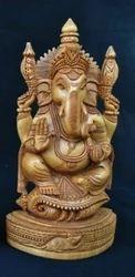 Wooden Shankh Ganesh
