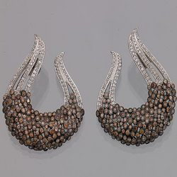 Silver Earring (With Cubic Zircons)