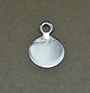 925 Silver Round Engraving Charm