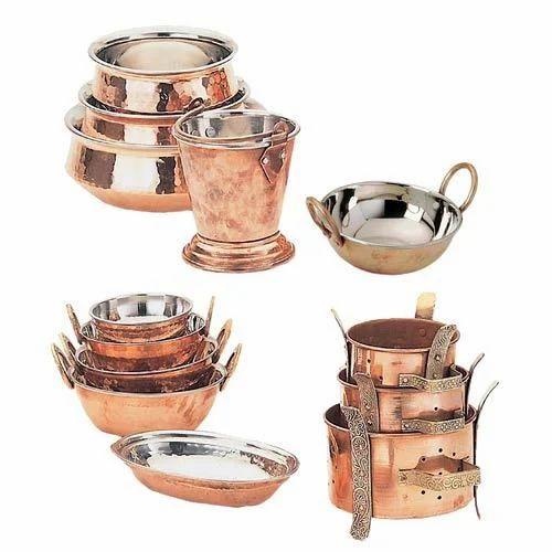 Bhalaria Round Copper Coated Cookware Bhalaria Metal