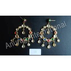 Colorful Kundan Earrings