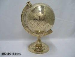 Golden Brass World Map Globes