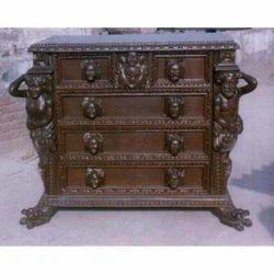 Solid Teak Wood Hand Carved Dressing Table