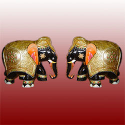 Decorative Elephants Pair