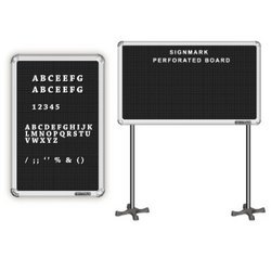 Black Perforated Board