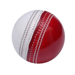 Red & White Cricket Leather Balls