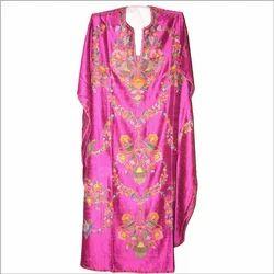 Hand Embroidered Pure Silk Kaftan