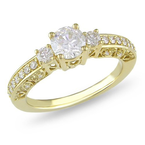 Round White Diamond Engagement Ring Pooja Jeweler Surat ID
