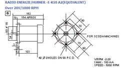 DC Tachogenerator-Radio Energie Hubner