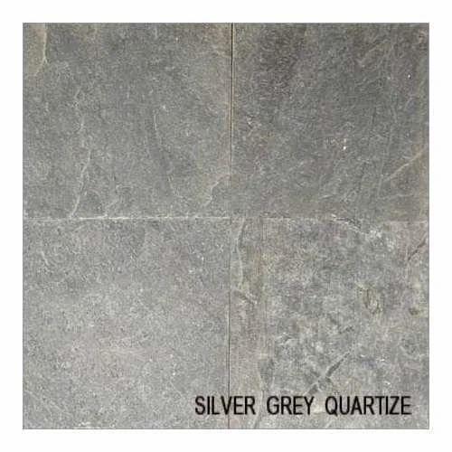 Quartzite Stones Silver Grey Quartziteslate Stone Exporter From