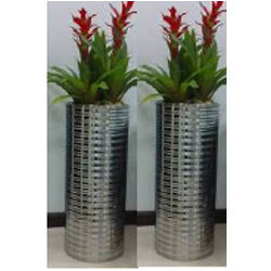 Indoor Decorative Planters, Stainless Steel Planters - Aryan Trading ...