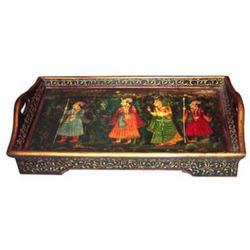 Painted & Embossed Tray M-7038
