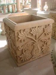 Floral Carved Planter