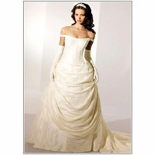 White Wedding Dress Mumbai: Bridal Gown- White Base