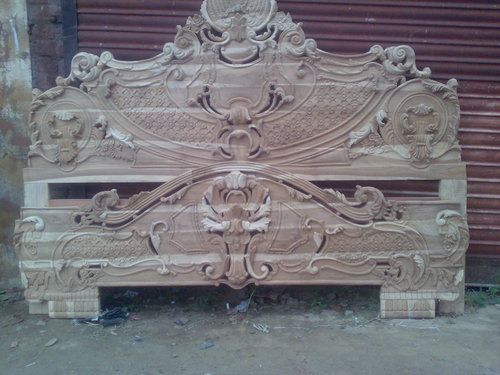 Wooden Double Bed Double Bed Carving Wholesaler From Jodhpur