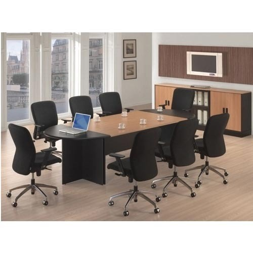 Mdf Oval Office Conference Table Rs 35000 Piece Living Space Id 4106123473