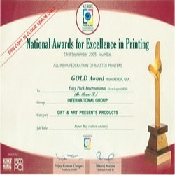 National Award For Excellence In Printing