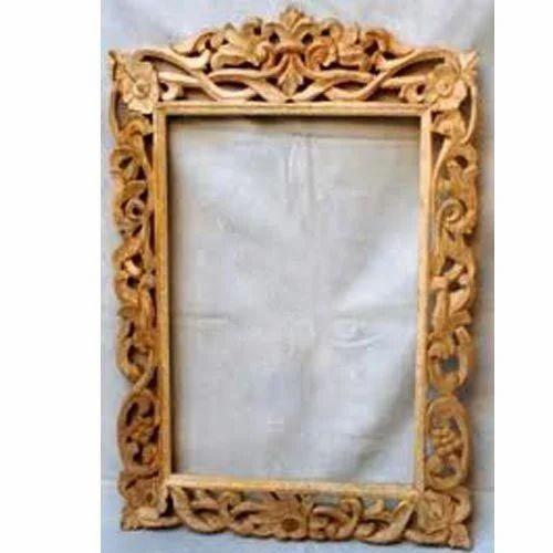 Wooden Mirror Frame, Wooden Handicrafts | Mukandpura, Jaipur | Maha ...