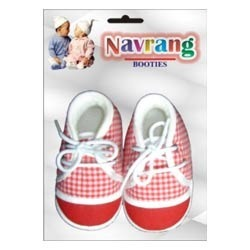 Checked Baby Footwear (Set of 96)