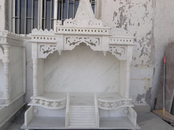 Marble Temple with Extensive Carving Work