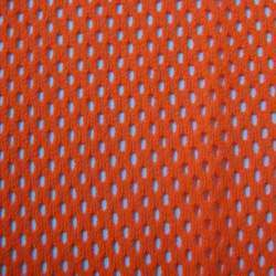 Orange Warp Knit Mesh Fabric