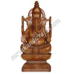 Wooden Antique Ganesha