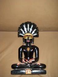 Black Marble Parsvnath Statue