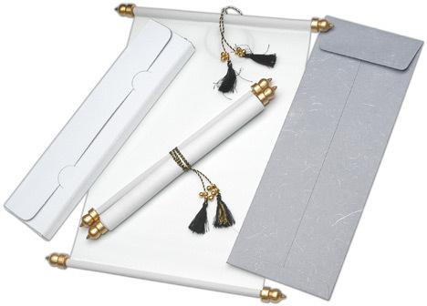 handmade paper wedding scroll invitations - Wedding Scroll Invitations