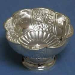 German Silver Ice Cream Bowl
