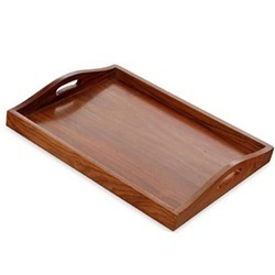 Wooden Serving Trays  sc 1 st  IndiaMART & Wooden Serving Trays Lakdi Ki Parosne Ki Thali - Wood Design Maker ...