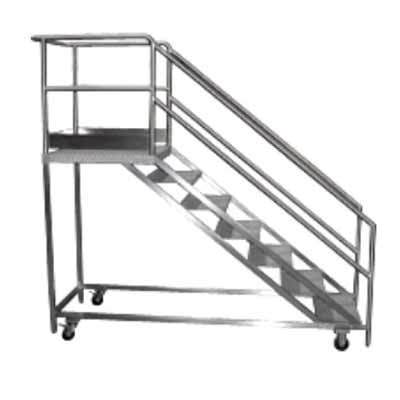 Portable platform ss stairs ss stairs rajouri garden for Manufactured stairs