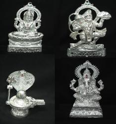 White Metal Statues