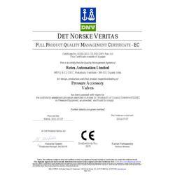 CE Certificate for solenoid valve & Angles Seat Valve