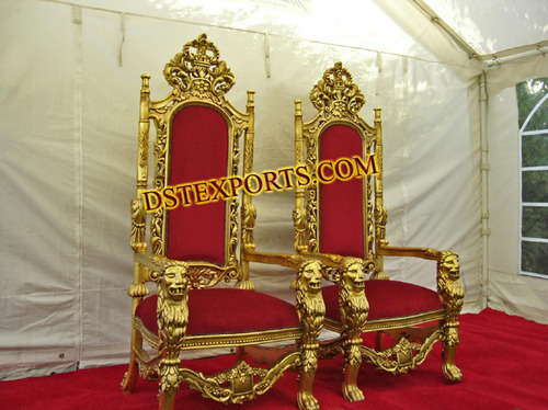 Indian Wedding Furniture Mandap Wooden Carved Chairs Set Exporter From Patiala