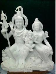 White Shiv Parvati Moorti