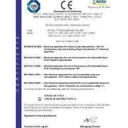 CE Certificate for Spool Valve