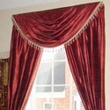Red Polyester Designer Curtains, Shape: Horizontal